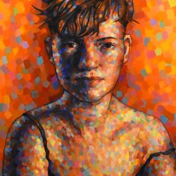 Saturated Self-Portrait by Amelia Busha